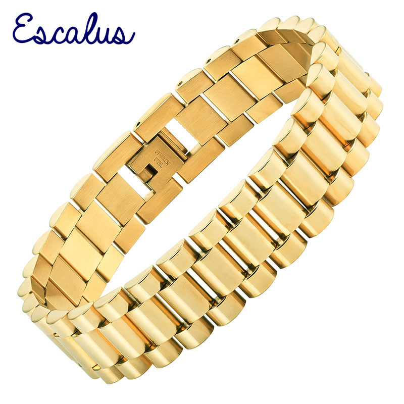 Escalus любителей романтическая пара комплект 2 шт. золото Ионные Покрытие Нержавеющаясталь браслет Шарм ювелирных изделий