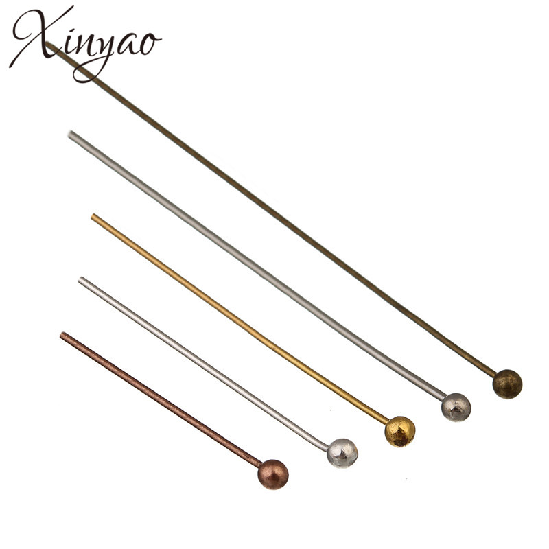 xinyao-200pcs-gold-silver-color-ball-head-pins-length-20-25-30-40-50-mm-head-pins-for-jewelry-making