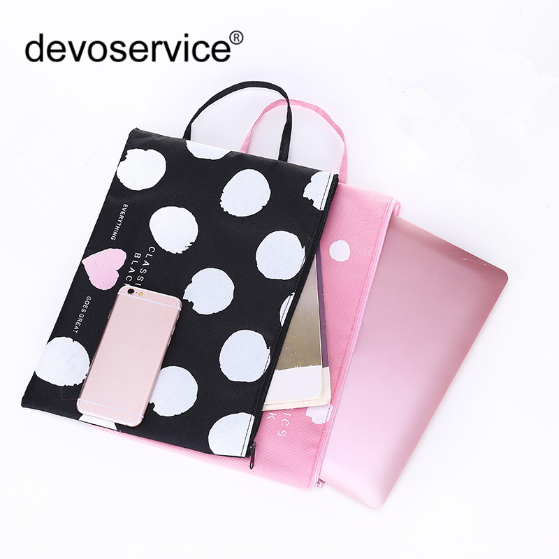 Multifunction A4 Oxford File Folder Bag Portable Office Supplies Organizer Bags Casual Ladies Tote Office School Document Supply