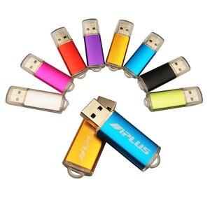 Image 5 - De alta velocidad USB Flash de Metal logotipo personalizado Pendrive 4GB 8GB 16GB 32GB 64GB USB 2,0 boda Cle USB Pen Drive (más de 10 Uds LOGO gratis)