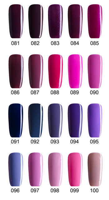 Buy 5 Get 1 Free, Purple Red Pink Nail Gels Soak Off LED UV Nail Gel Lacquer, Long Lasting No Chip (DHL Global Mail Delivery)