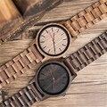 DODO олень ультра-тонкий натуральный все черное дерево часы Простой дизайн Топ бренд простые мужские часы японский движение Мужчины t для под...