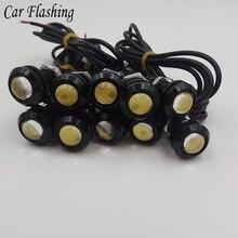 10 PCS 12 V LED 18mm Kartal Göz Işık Yüksek Güç lambası Gündüz Koşu Işık park işıklar Otomatik Sis ampul Yedekleme DRL araba tas...