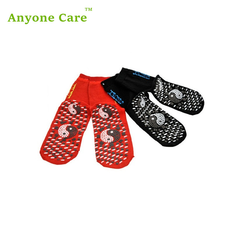 Taichi Self-heating tourmaline magnetic massage knee socks athletes foot micro-thermal health socks