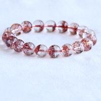 High Quality Natural Genuine Clear Orange Cornucopia Super 7 Seven Melody Stone Bracelet Round Beads 10mm 05066