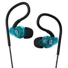 Sweatproof Sport Headphones In Ear Bass Exercise Earbuds Earphones with Microphone for Running Gym Jogging for iPhone 7, Samsung