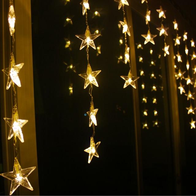 Star curtain lights uk curtain menzilperde net for 6 star window christmas decoration lights