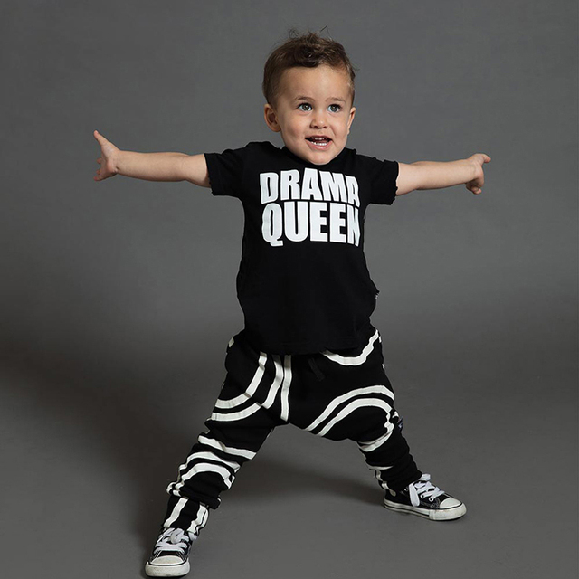 2019 Brand Summer Boys Clothes Short Sleeve Pants Set Baby Cotton Skull Letter Print Clothing Set Girl Clothes 1-10 Years Star