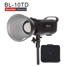 цена на Falcon Eyes LED Studio Video Fill Light 100W Bi-color 3000K-8000K Film Fotografia Lighting With Bowen Bayonet & Handle BL-10TD