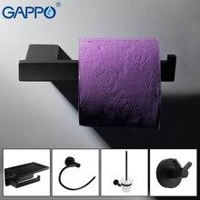 GAPPO аксессуары для ванной черный держатель для бумаги из нержавеющей стали крючок для халата мыльная полка набор туалетных кистей аксессуары для ванной комнаты