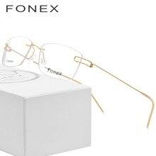d11e5cacea9fd Sem parafusos de Óculos Coreano Óculos de Armação Homens 2018 Ultraleves  Prescrição Armações de óculos de Titânio Óculos Sem Aro.