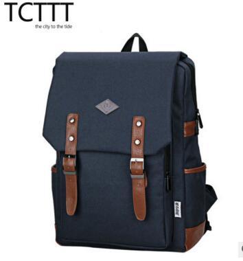 2017 new fashion computer shoulder bag Korean version of the bag canvas backpack shoulder bag fashion