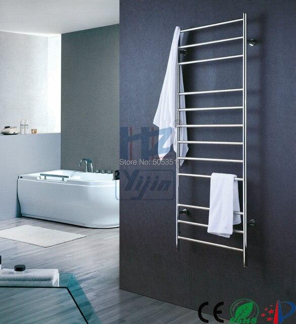 Wall Mounted Towel Warmer Stainless Steel Electric Rack Heated Rail Bathroom