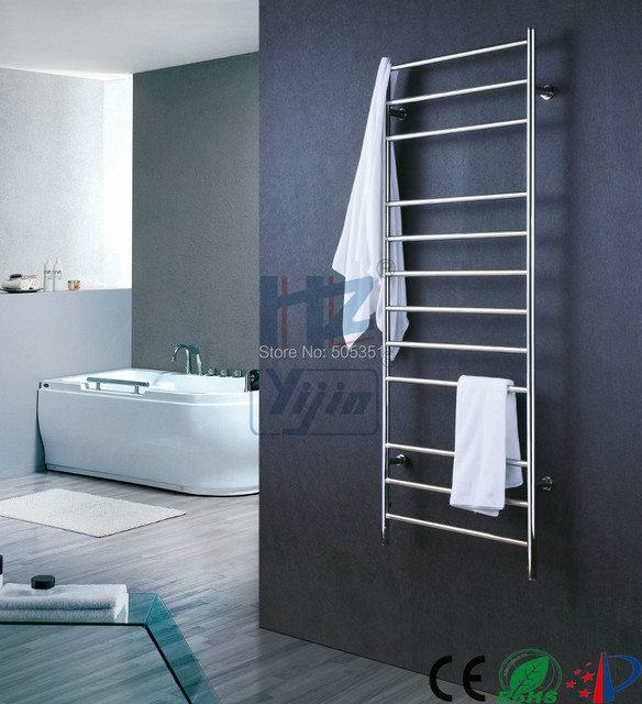 Big Size Stainless Towel Warmer Heated Towel Rack: Tall Wall Mounted Stainless Steel Towel Warmer Heated