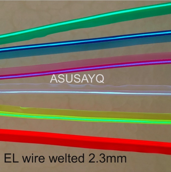 2.3mm  free shipping sewable welt el wire glowing strobe wire 20m flexible neon welted cable with 12 inverter/driver for car женские колье esprit серебряное колье esnl 91862 a 40