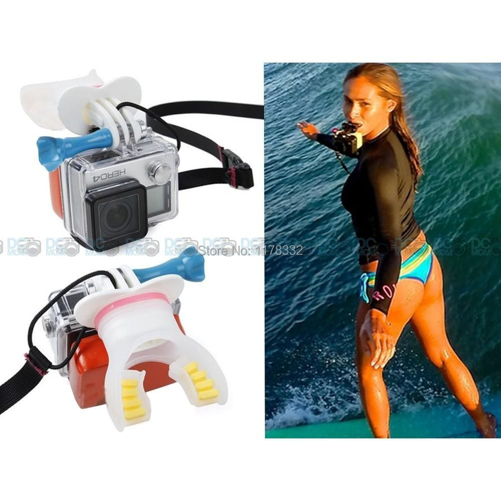 Surfing Skating Shoot Dummy Bite Mouthpiece Mouth Mount Floaty Neck Lanyard for GoPro Hero 4 3