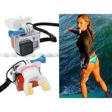 Серфинг Катание Стрелять Манекен Укус Мундштук Рот Крепление + Floaty + Шейный Ремешок для GoPro Hero 4/3 +/3/2/1 S J4000 SJ5000 Камеры