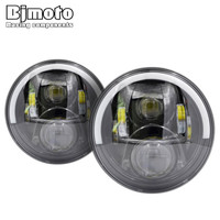 2pcs Set 7 Inch 60W LED Headlight Head Light Lamps High Low Beam Headlamps For Jeep
