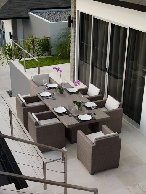 2017 fancy design Outdoor Rattan Patio Furniture dining table and chair(China  (Mainland) - Compare Prices On Designer Patio Furniture- Online Shopping/Buy