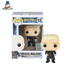 [QuanPaPa] New Genuine FunKo POP Harry Potter Draco Malfoy 13 Model Action Figurine doll car Decoration #6569 kids toys