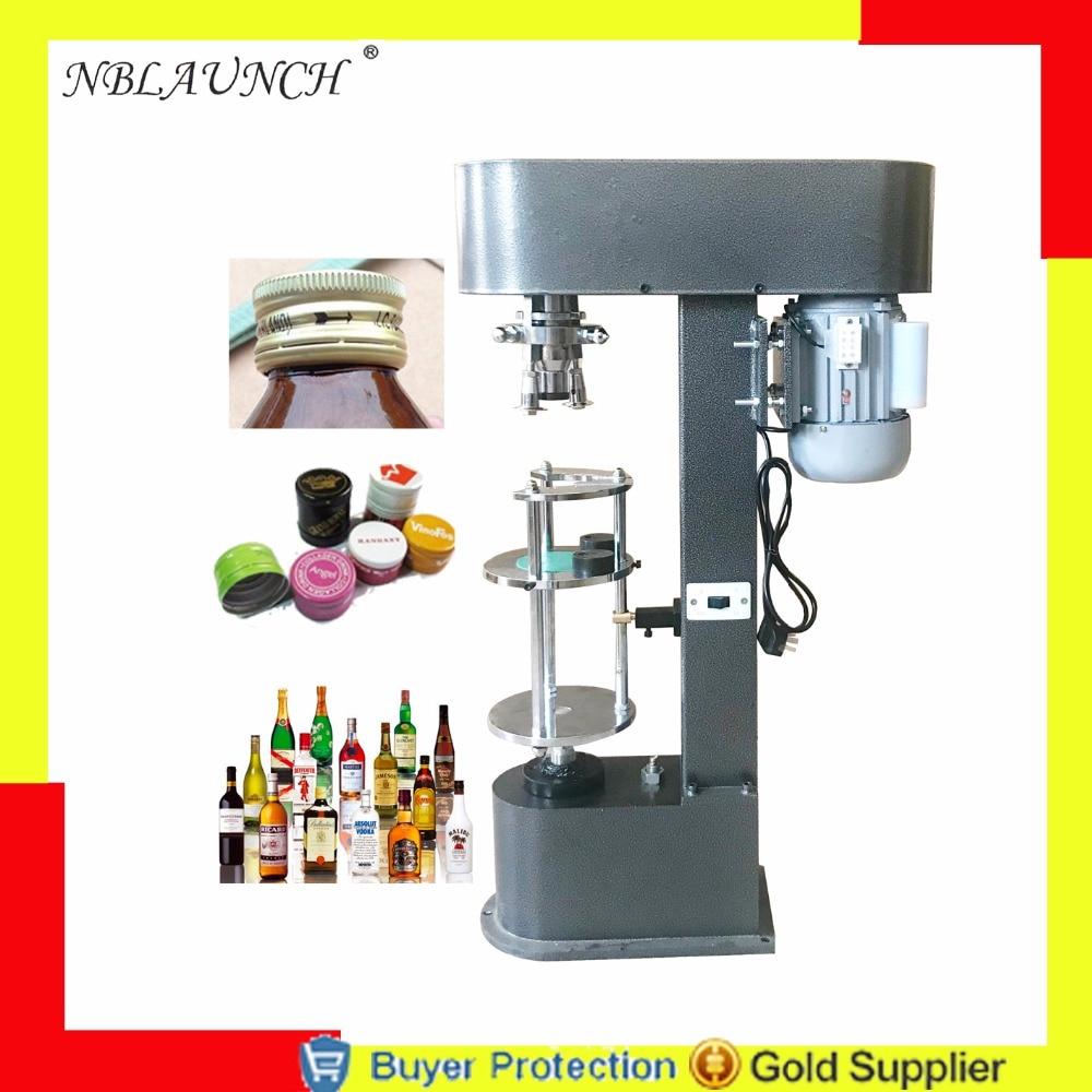 Free Shipping white wine bottle cap capping machine, olive oil whisky lid cap locking pressing aluminum metal cap capper machine Бутылка