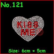 1 sztuk Kiss Me serce miłość poprawka kryształki górskie motywy żelazko na plastry kryształ besds biżuteria dla kobiet ubrania suknia ślubna tanie tanio strasy Do szybkiego klejenia SS 6 10 16 20 30 Bags buty DO ODZIEŻY twilingh flatback Motywy dżetowe Kwiat Szkło Hot-Fix