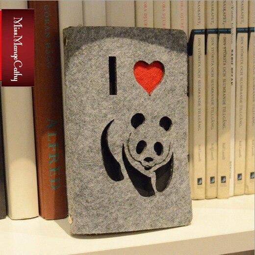 Привет панда Журнал Дневник ткань крышка пустой крафт-бумаги планировщик путешествия школа исследование Тетрадь планировщик