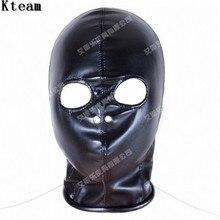Одежда высшего качества из мягкой искусственной кожи маска-капюшон Связывание ведомого в Игры для взрослых для пары фетиш секс флирт Игрушечные лошадки для Для женщин и Для мужчин COS