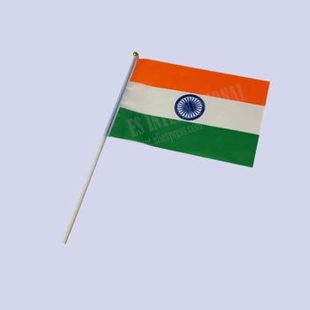 Flaga indii flaga narodowa 14*21cm poliester mały sztandar niestandardowy flaga American