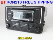 Envío Libre ruso Bluetooth RCN210 MP3 USB Reproductor de CD MP3 Radio PARA VW Golf 5 6 Jetta Mk5 MK6 Passat B6 CC B7