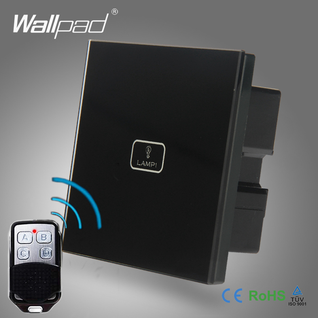 2pcs 1 Gang 2 way 3 way Wifi Remote Wallpad Black Glass Switch