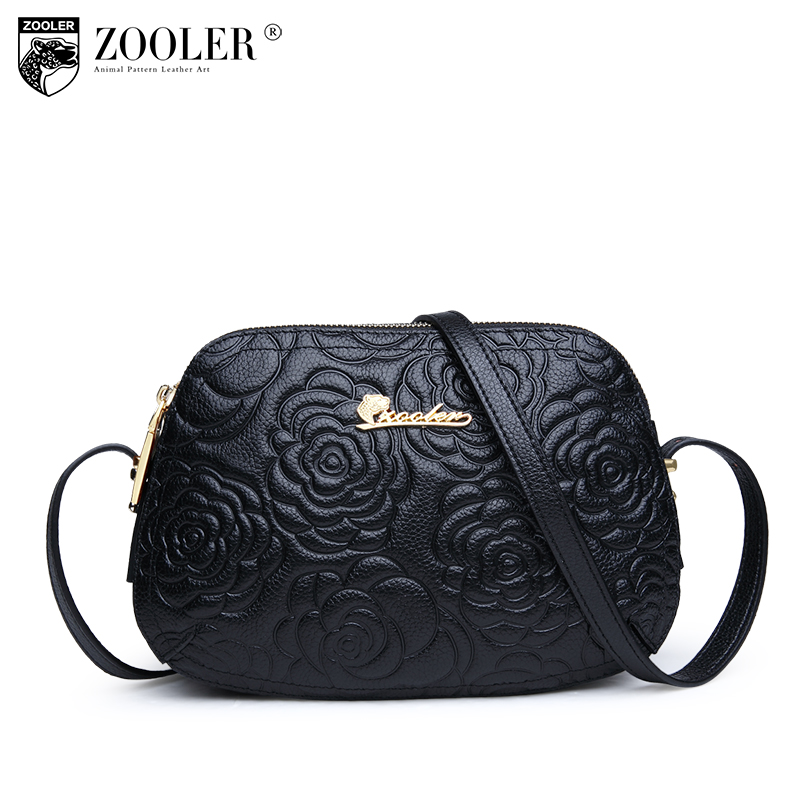 ZOOLER Fashion Genuine leather bags for women messenger bags Small Luxury crossbody bag famous brand Women shoulder bags 2355 zooler brand genuine leather shoulder bags for women casual messenger bag ladies small cowhide leather crossbody bags sac a main