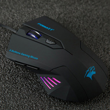 Silent Frosted Ergonomics 2400dpi Adjustment USB 6D Wired Optical Computer font b Gaming b font font