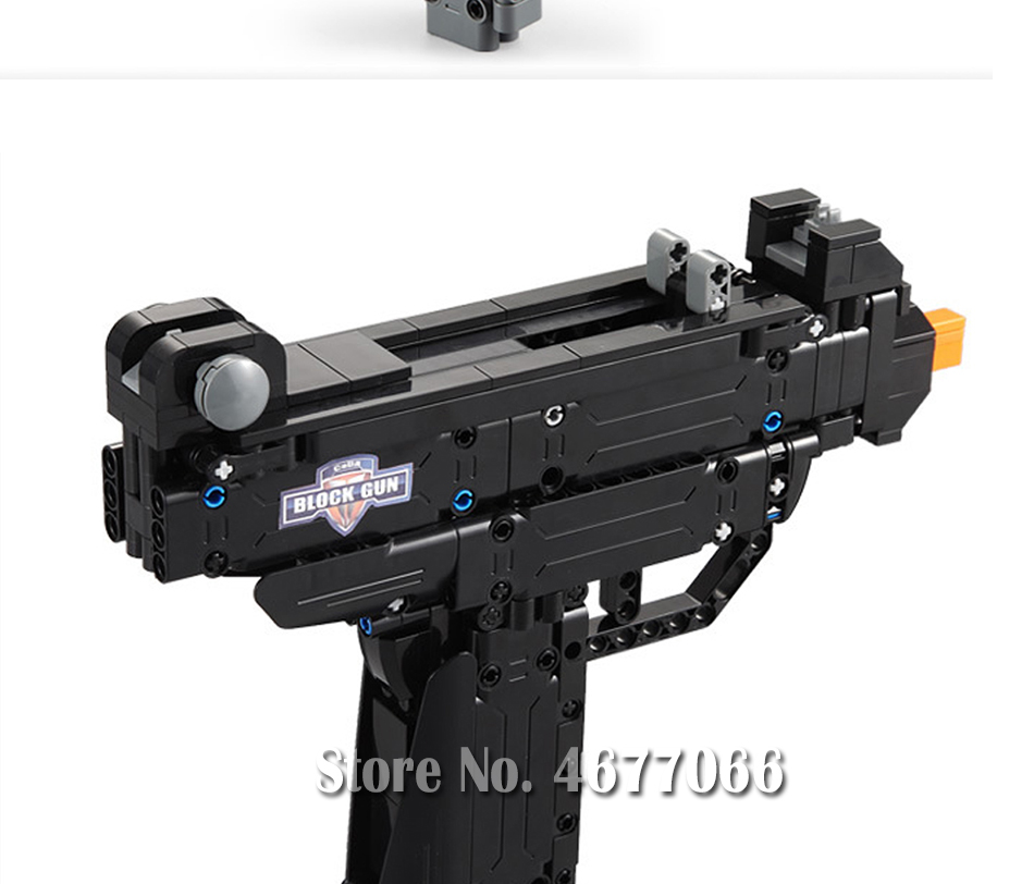 Legoed gun model building blocks p90 toy gun toy brick ak47 toy gun weapon legoed technic bricks lepin gun toys for boy 165