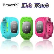 Niño GPS Tracker SOS Reloj Teléfono Inteligente Q50 Niños Bebé seguro Smartwatch Reloj SIM Podómetro de Pulsera Deportivo Relojes vs Q60 Q80