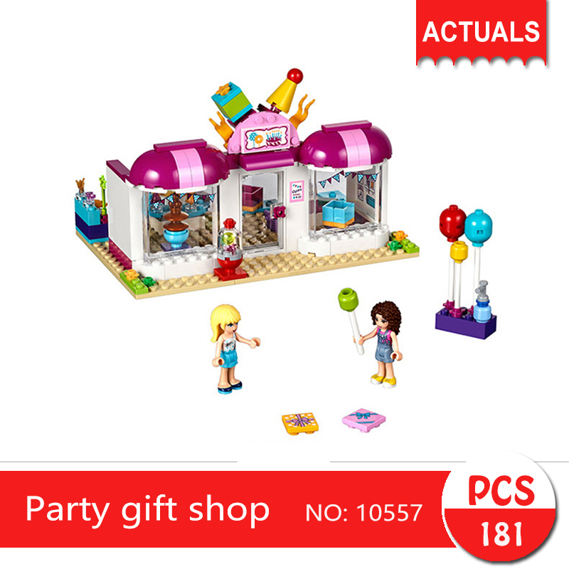 bela 10557 181Pcs Friends series Party gift shop Building Blocks Bricks Toys For Children Gift bela 256pcs rogon s rock flinger chimaed building blocks bricks for children gift kids toys legoelieds