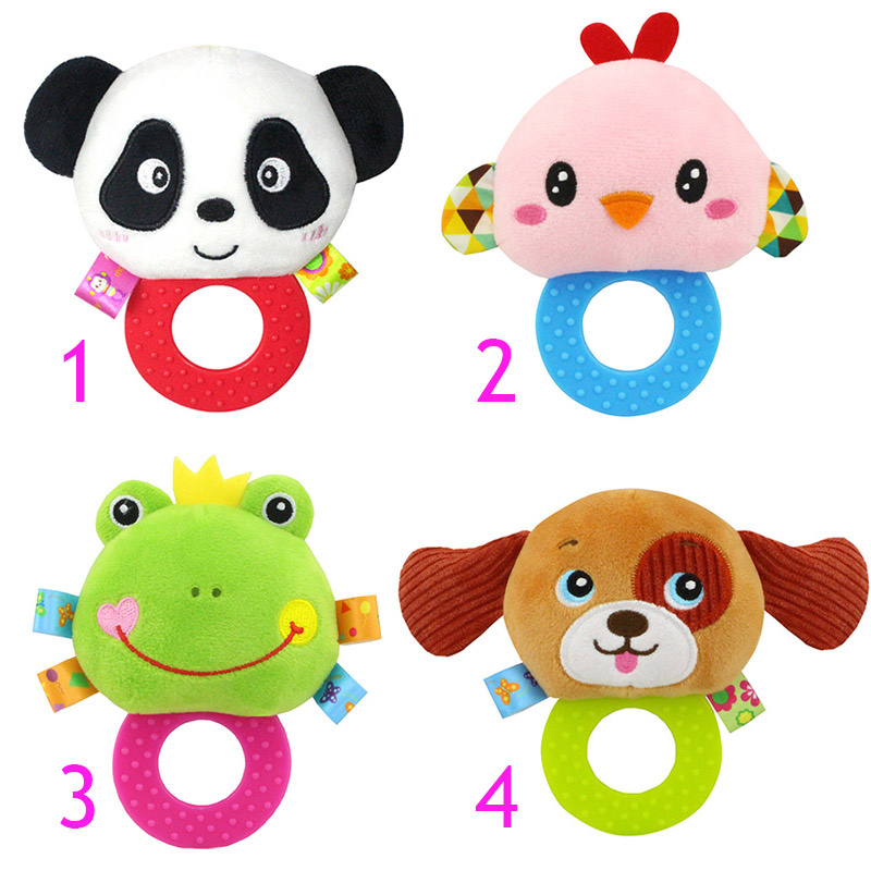 Newborn Rattles Toy Hand Bell Toddler Infant Rings Interactive Cute Cartoon Animal Plush Toys Baby Early Education Gift-40