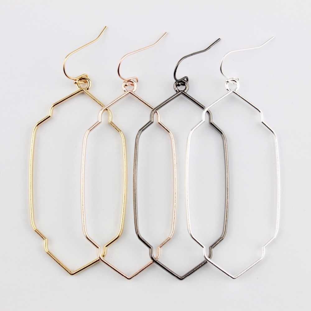 2018 Fashion Jewelry Geometry Border Proportion Frame Dangle Drop Statement Earrings for Women Accessories