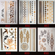 Flash Temporary Tattoos Henna Sticker 6 Designs Sexy Products Fashion Body Art Fit Women Dress In Party Date Ball Daily Life
