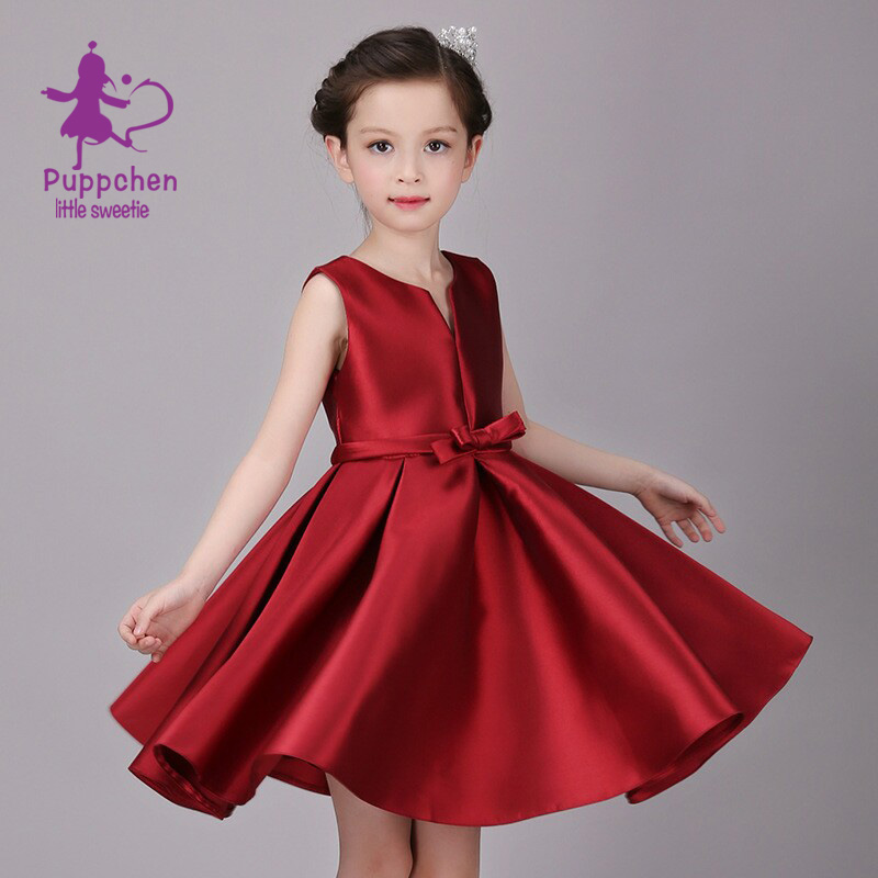 Buy Cheap Puppchen red wedding dress baby girls clothes carnival costumes children clothing princess sequins dresses for girls kids