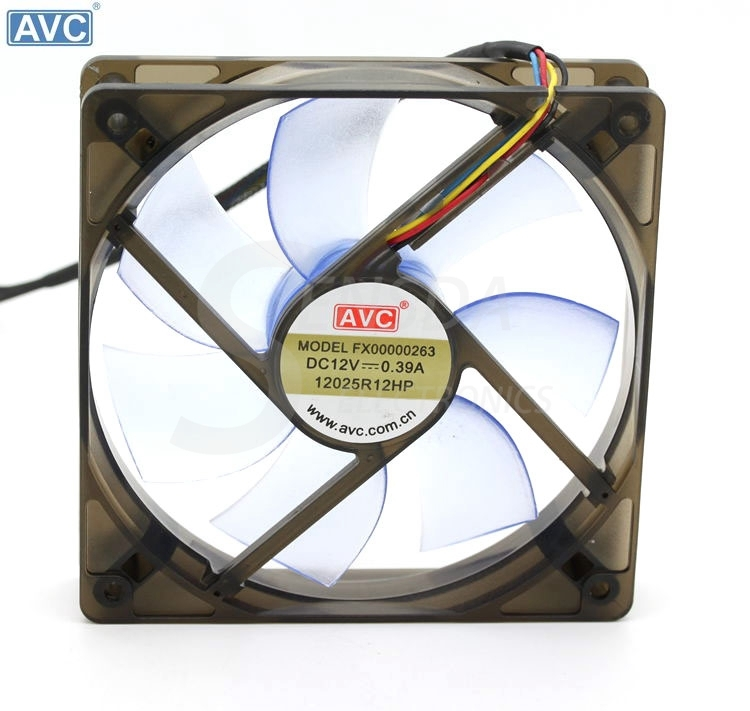 AVC pwm cooling fan 120mm 12025 FX00000263 12025R12HP 12cm 12V 0.39A 4p Computer Case cpu cooler Fans delta afb1212hhe 12038 12cm 120 120 38mm 4 line pwm intelligent temperature control 12v 0 7a