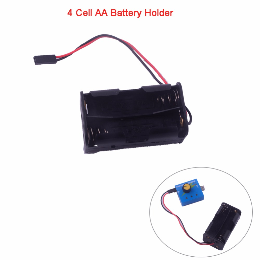 4 Cell AA Battery Batteries Holder Case Cover Shell With Fut J Connector ( Works With Servo Tester ) FZ3283