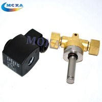 12pcs/lot Brass 1/2 Electric Solenoid Valve 1400PSI with 1/2bsp inch Threaded accessories for CO2 jet connon machine
