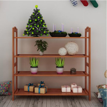 Bamboo shoe rack Home living room shelf Practical and creative simple multi-layer European shoe rack