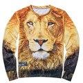 2016 Women/Men Animals tiger/lion print Pullover 3D...