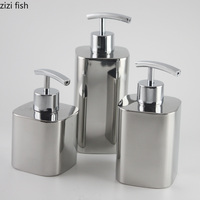 Creative Nordic Metal wind stainless steel Lotion bottle hand soap shampoo Shower Gel bathroom decor bathroom accessories