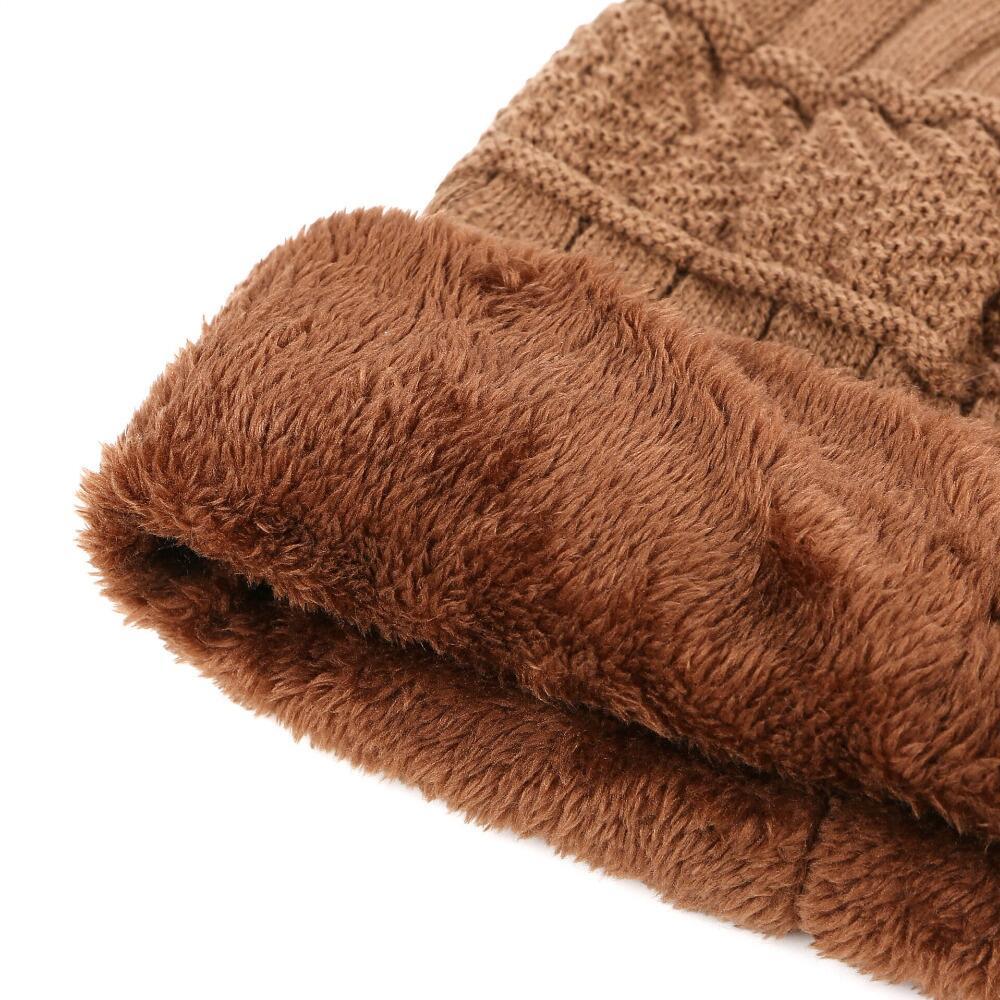 SUOGRY Neck warmer winter hat knit cap scarf cap Winter Hats For men knitted hat men Beanie Knit Hat Skullies Beanies 4