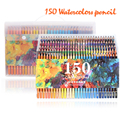 150 цветов мягкие акварельные карандаши деревянные водорастворимые цветные карандаши набор для Lapis De Cor живопись Эскиз школьные наборы для р...