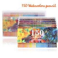 150 Colors Soft Watercolor Pencils Wood Water Soluble Coloured Pencils Set For Lapis De Cor Painting Sketch School Art Supplies