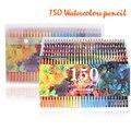 150 farben Weiche Aquarell Bleistifte Holz Wasser Löslich Farbige Bleistifte Set Für Lapis De Cor Malerei Skizze Schule Kunst Liefert